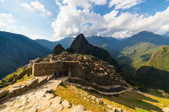 Last sunlight at Machu Picchu, Peru Royalty Free Stock Images