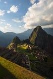 Last sunlight at Machu Picchu, Peru Stock Photo