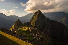 Last sunlight at Machu Picchu, Peru Royalty Free Stock Photos