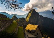 Last sunlight on Machu Picchu, Peru Royalty Free Stock Images