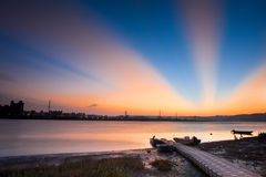Last sunrise, nice cloud sub-dug, the new Taipei, Stock Photo