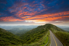 Last sunrise, nice cloud sub-dug, the new Taipei, Royalty Free Stock Image