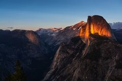 Free Last Sunshine Of Half Dome Stock Photography - 182463692