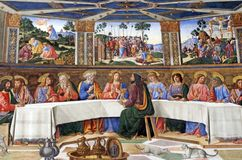 The Last Supper. In Sistine Chapel, Vatican City Stock Photo