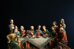 The last supper. Statue of tha Last Supper stock photo