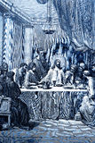The Last Supper. The biblical theme - illustrated by Gustave Dore (1885 Royalty Free Stock Photo