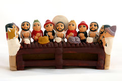 Last supper, brazilian crafts. Last supper of clay, brazilian crafts Royalty Free Stock Photo