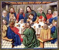 Last Supper of Christ. Biblical theme - New Testament - Last Supper Stock Photo