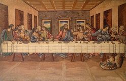 The Last Supper of Christ and the Disciples. Church of Holy Trinity in Klenovnik, Croatia Royalty Free Stock Image