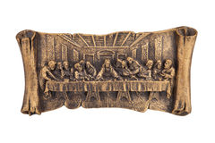 Last supper of Christ relief Stock Photos