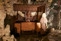 The Last Supper depiction inside the Crystal Shrine Grotto Royalty Free Stock Photos