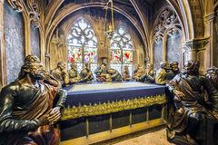 The last supper in the Freiburg Minster Stock Images