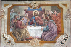 Last Supper. The Last Supper, fresco painting royalty free stock image