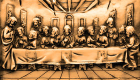 Last supper grunge. Picture of last supper - grunge style. (It is a serial plaster cast, which I edited in photoshop stock image