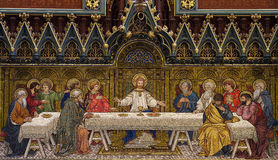 The Last Supper (mosaic). A photo of a The Last Supper (mosaic stock photography