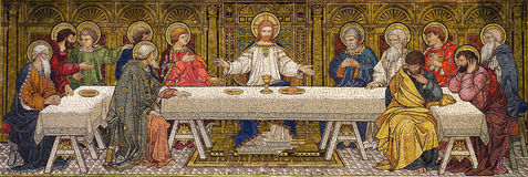 The Last Supper (mosaic). A photo of a The Last Supper (mosaic royalty free stock images