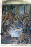 Last Supper. The Last Supper painting at the church altar Royalty Free Stock Images