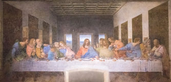 Last Supper painting Stock Images