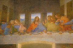 Last Supper painting royalty free stock images