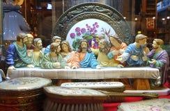 The last supper porcelain miniature Stock Photos