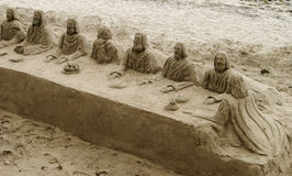 Last Supper In The Sand Royalty Free Stock Image