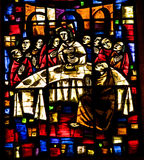 Last Supper Stained Glass Mexico Royalty Free Stock Images