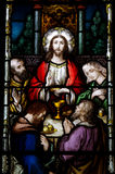 The Last Supper. A stained glass photo of The Last Supper Royalty Free Stock Photos
