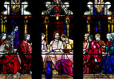 The last supper in stained glass Stock Image