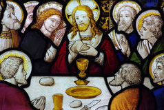 The Last Supper in stained glass Royalty Free Stock Images