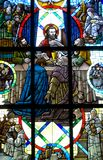 Last Supper Stained Glass window Stock Image