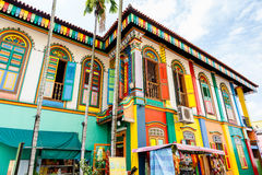 Last Surviving Chinese Villa in Little India, Singapore stock image