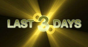 Last three days golden light flare Royalty Free Stock Photo