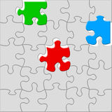 Last three pieces of the puzzle Royalty Free Stock Image