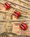 Last throw of the dice or winning streak. Stock Photography