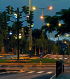 The last traffic light at Eilat, Israel Stock Photography