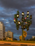 The last traffic-light in Eilat,Israel Royalty Free Stock Photography