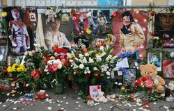 Last tribute to Michael Jackson. Moscow Stock Images