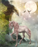 Last unicorn. Fantasy illustration of an unicorn