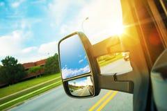 Last Van Driving Concept royaltyfri foto