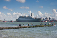 Last voyage of SS Rotterdam Stock Photo