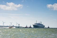 Last voyage of SS Rotterdam Royalty Free Stock Image