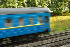 The last wagon of train Stock Photography
