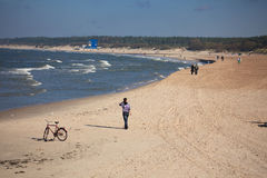 Last warm days in Palanga beach Stock Photography