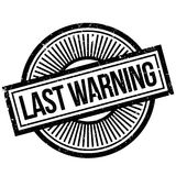 Last Warning rubber stamp. Grunge design with dust scratches. Effects can be easily removed for a clean, crisp look. Color is easily changed Stock Photography