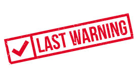 Last Warning rubber stamp Royalty Free Stock Photos