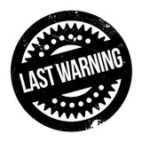 Last Warning rubber stamp. Grunge design with dust scratches. Effects can be easily removed for a clean, crisp look. Color is easily changed Stock Images