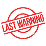 Last Warning rubber stamp Royalty Free Stock Photo