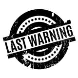 Last Warning rubber stamp. Grunge design with dust scratches. Effects can be easily removed for a clean, crisp look. Color is easily changed Stock Photos