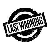 Last Warning rubber stamp Royalty Free Stock Photography
