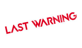 Last Warning rubber stamp Stock Photo
